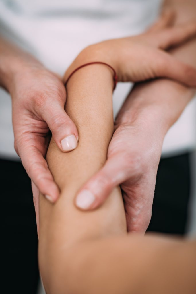 sports massage on a fore arm