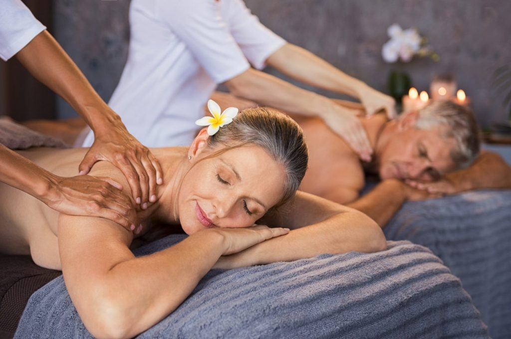 older couple in couples massage