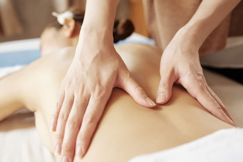 lower back massage from professional